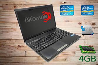"""Б.У ноутбук Samsung NP300V5 / 15,6""""/ Intel Core i7-2670QM/ 2,4 ГГц/ 4 Гб/ SSD 120/ HD 3000"""