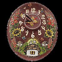 """Часы настенные механические овальные """"Хуторок"""""""