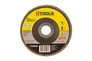 Диск шлиф, лепестковый 125*22 мм зерно 80 HTools, 62K108
