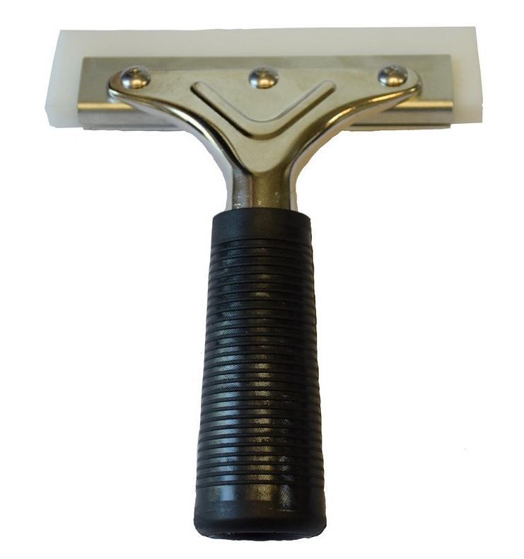 Ракель металлический с резиновой ручкой и полиуретаном для защитной плёнки 12 см
