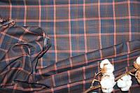 Ткань костюмная плательная клетка, натуральные волокна, слабый стрейч (5%эластана) №321