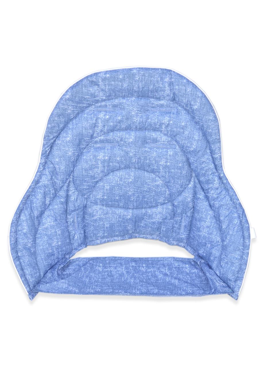 Дополнительный вкладыш DavLu к стульчику для кормления Chicco Polly Magic 3 в 1 под джинс голубой (Vkl-m-005)