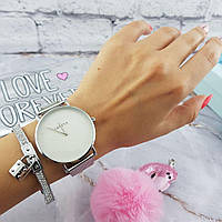 Женские часы Geneva Classic steel watch серебряные, жіночий наручний годинник, наручные кварцевые часы Женева, фото 1