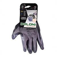Перчатки трикотажные с нитриловым покрытием, неполный облил, серый, размер 10 ДКГ 4577