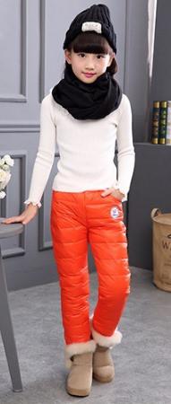 Теплые дутые штаны   110, 140