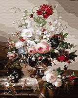 GX 30124 Нежные розы Роспись по номерам на холсте 40х50см без коробки, в пакете
