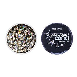 Гель-краска Oxxi Glitter Gel Hollywood №08, 5 г