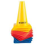 Конус тренувальний SECO 15 см колір: жовтий, фото 2