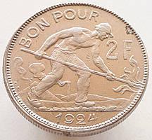 Люксембург 2 франка 1924
