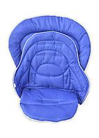 Набор чехлов DavLu на стульчик для кормления Chicco Polly Magic 3 в 1 синий (Ch-201-1), фото 1