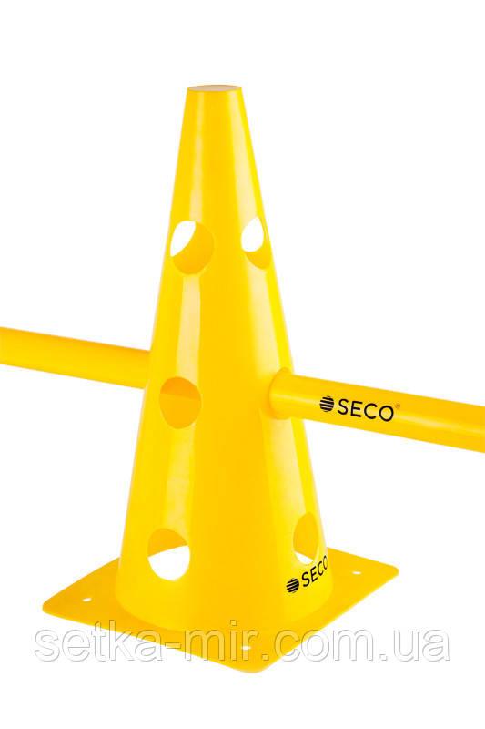 Тренировочный конус с отверстиями SECO 32 см цвет: желтый