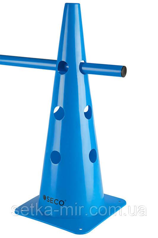 Тренировочный конус с отверстиями SECO 48 см цвет: синий
