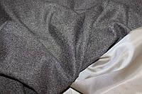 Ткань плотная жакетная, формодержащая  (без эластана) №364 елочка коричневый темный, фото 1