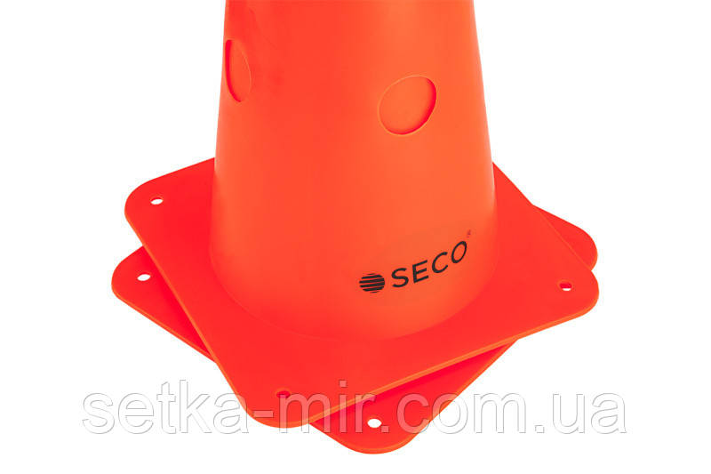 Тренировочный конус с отверстиями SECO 48 см цвет: оранжевый