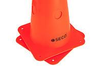 Тренировочный конус с отверстиями SECO 48 см цвет: оранжевый, фото 1