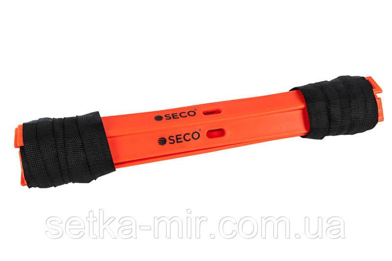 Беговая тренировочная лестница 12 ступеней 6 м цвет: оранжевый SECO