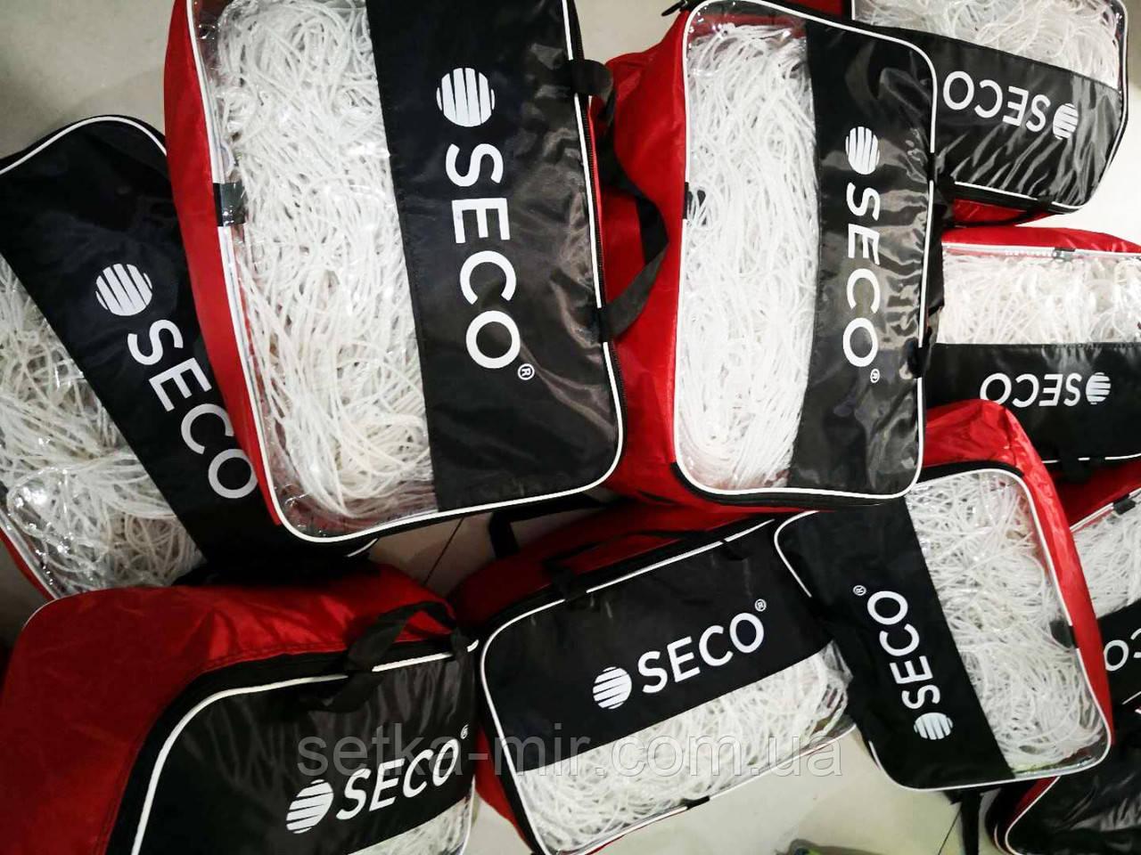 Футбольная сетка SECO толщина нити: 3 мм; размер: 3х2х1.5 м