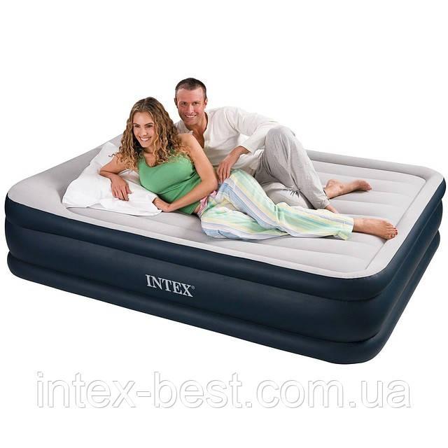 Надувные кровати  Intex 67738 (152 х 203 х 43 см.) с встроенным насосом