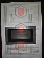 Графитовая форма под слиток серебра весом 2 кгразмером 105*55*40, фото 1