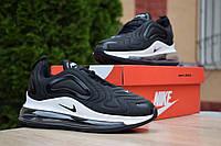 Кроссовки Nike Air Max 720 женские, черный/белый, в стиле Найк Аир Макс 720, текстиль код OD-2912