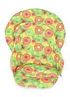 Набор чехлов DavLu на стульчик для кормления Chicco Polly Magic 3 в 1 круги на желтом (Ch-204-4)