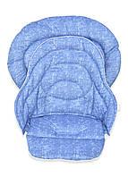 Набор чехлов к стульчику для кормления Chicco Polly Magic 3 в 1 под джинс голубой, фото 1