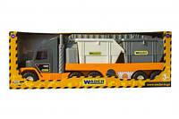 """Эвакуатор """"Super Tech Truck"""" со строительными контейнерами  scf"""