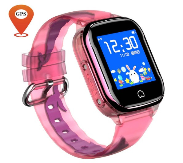 Дитячий Водонепроникний годинник з gps K21 рожевий