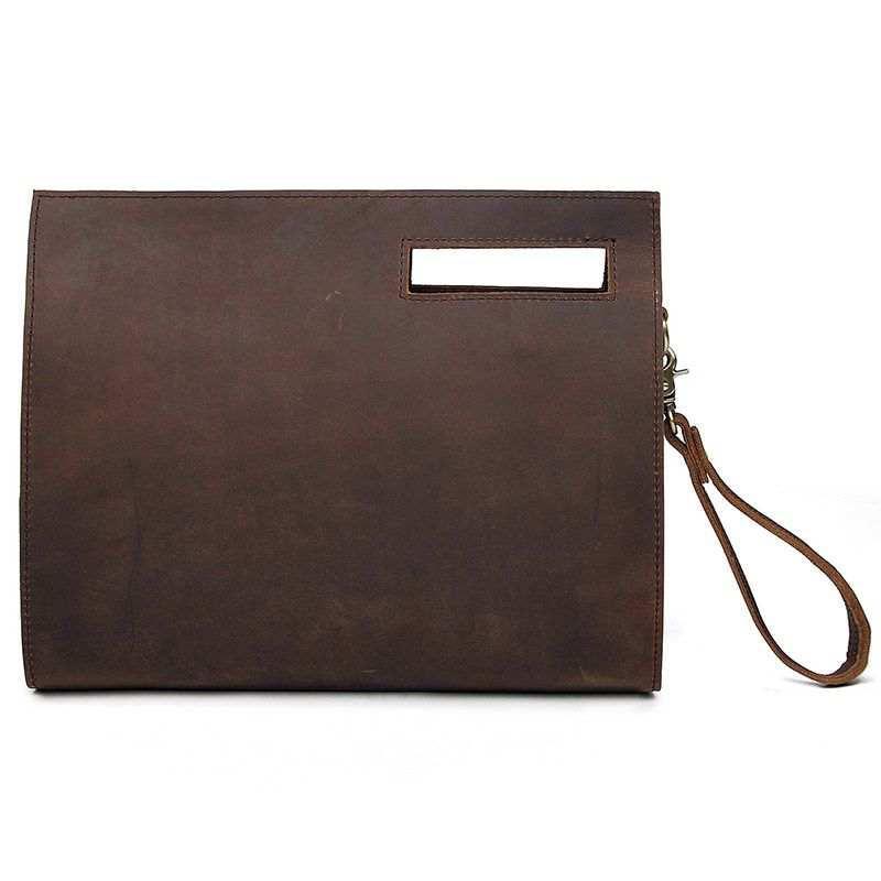 Коричневая кожаная сумка A0011RS