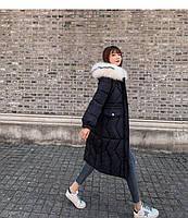 Пуховик жіночий довгий Катрін, фото 3