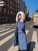 Пуховик жіночий довгий Катрін, фото 4