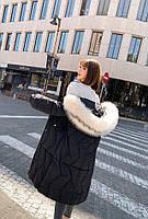 Пуховик жіночий довгий Катрін, фото 6