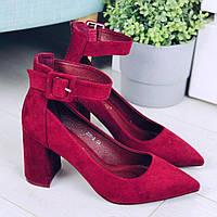 Туфли бордовые женские, фото 1