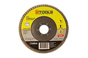 Диск шлиф, лепестковый 125*22 мм зерно 80 HTools, 62K208