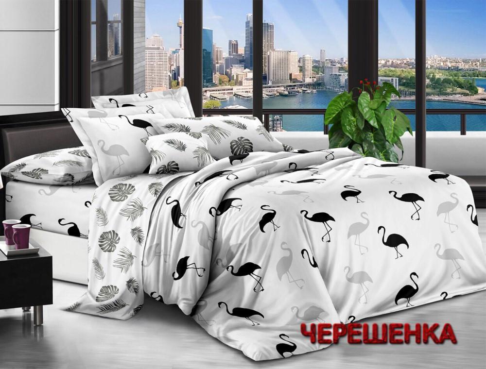 Полуторный набор постельного белья 150*220 из Ранфорса №181318AB Черешенка™