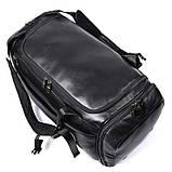 Натуральна шкіряна сумка - рюкзак X-6010A, фото 8