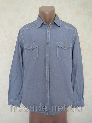 Фирменная стильная рубашка ESPRIT (как L) под джинс, фото 2