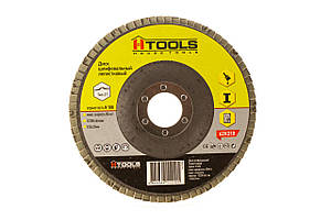 Диск шлиф, лепестковый 125*22 мм зерно 100 HTools, 62K210