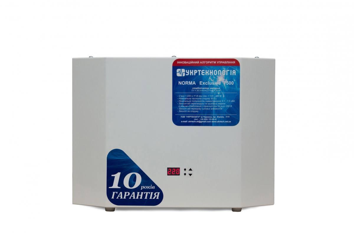 Стабилизатор напряжения Укртехнология NORMA Exclusive 5000 (1 фаза, 5 кВт)
