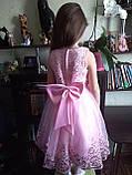 Очень красивое платье Персиковое на рост 110-120 см, фото 4
