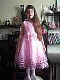 Очень красивое платье Персиковое на рост 110-120 см, фото 3