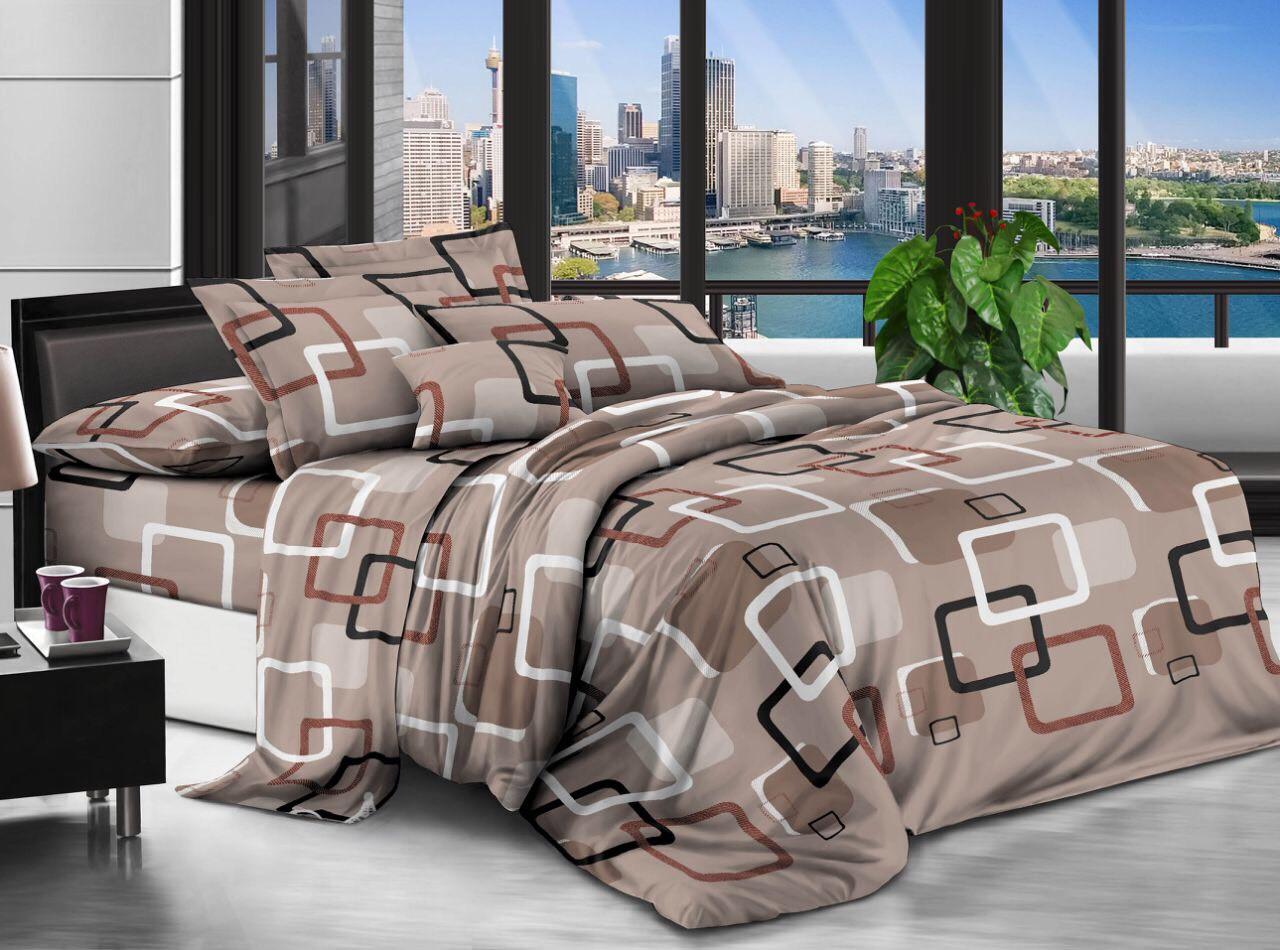 Двуспальный комплект постельного белья евро 200*220 хлопок  (12688) TM KRISPOL Украина