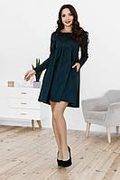 Свободное платье с завышеной талией, №145, бутылка