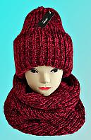 М 5082 Комплект женский, подростковый шапка+баф, марс, флис, фото 1