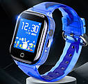 Детские Водонепроницаемые часы с gps K21 голубые, фото 3