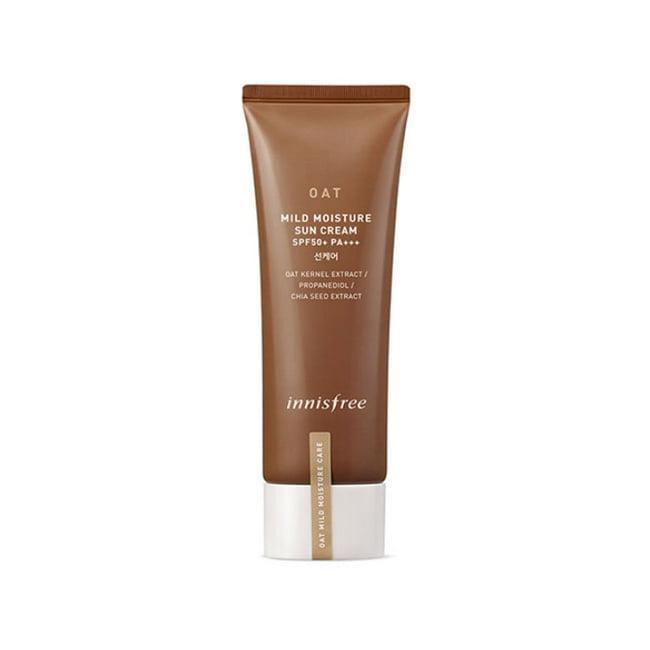 Innisfree Увлажняющий солнцезащитный крем SPF 50+PA+++ Oat Mild Moisture Sun Cream