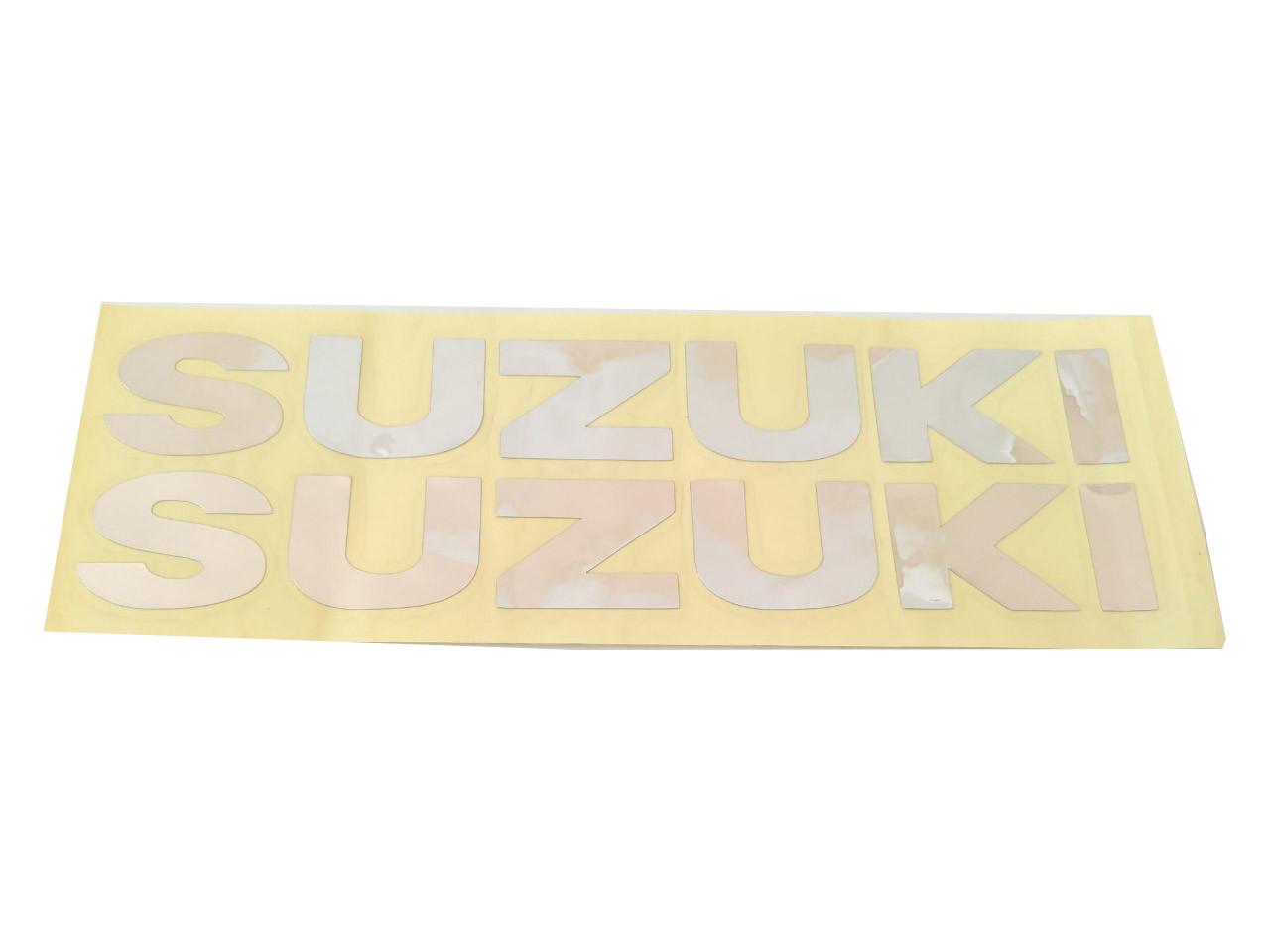 Наклейка SUZUKI (хром большие) HQ287-2шт