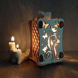 Соляные светильнкик Маленький камин с кристаллами соли
