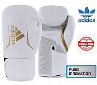Боксерские перчатки Adidas SPEED 100 (ADISBG100-WHGD, Бело-золотой), фото 1