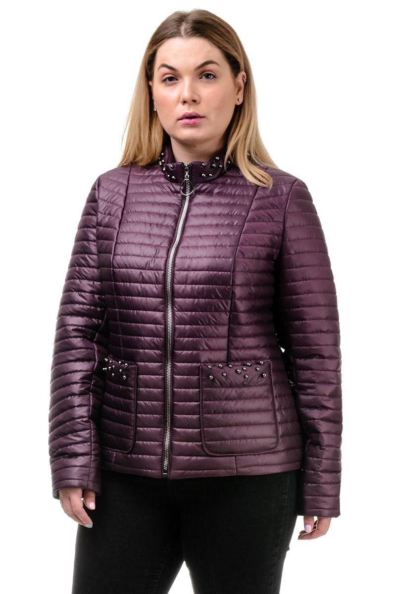 251 Демисезонная куртка Вива бордо (50-56)